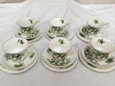 Royal Albert Trillium Fine Bone China Tea Cup Saucer Plate Trio x 6
