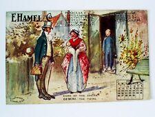 1910 E.HAMEL/NOTTINGHAM SIGNS OF THE ZODIAC ADVERTISING JUNE CALENDAR POSTCARD
