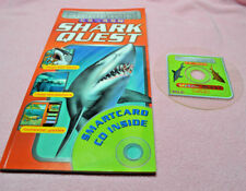 SMARTCARD CD-ROM SHARK QUEST Book And CD-ROM New Never Used FACTS GAMES Trivia