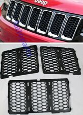 Black Front Mesh Grille hole honeycomb trim Jeep Grand Cherokee 2014 2015 2016
