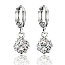 Premier Designs 9K White Gold Filled Cubic Zirconia Ball Earrings,F2452