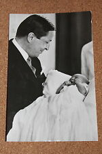 Vintage Postcard: HRH Prince Claus of the Netherlands with son Prince Alexander