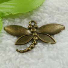 Free Ship 32 pcs bronze plated dragonfly pendant 44x27mm #893