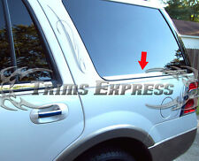 07-2017 Ford Expedition Rear Cargo 2Pc Chrome Window Sill Trim Stainless Steel