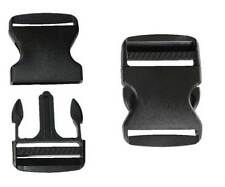 50mm Black Plastic Side Quick Release Buckle Clip – Cord Strap Backpack Bag Re