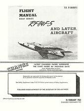 REPUBLIC RF-84F-5 THUNDERFLASH - FLIGHT MANUAL T.O. 1F-84(R)F-1 / 1963