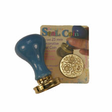 Manuscript Decorative Wax Sealing 25mm Coin Seal - Retro Floral