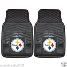 PAIR FANMATS NFL Pittsburgh Steelers Front Heavy Duty Car Mats New Free Shipping