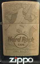 Hard Rock Cafe ORLANDO 2017 Gold Etched Guitar ZIPPO Lighter New Box w/ Sticker!