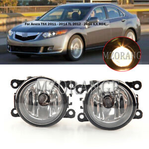 Fog Light Driving Lamp For Acura TSX 2011-2014 TL 12-2014 ILX RDX with H11 Bulbs