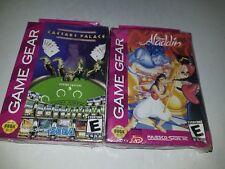 2 NEW Sealed Sega Gamegear Games Disneys Caesars Palace & ( Aladdin Crushed)