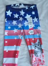 Girl s 3T July 4th NEW NWT Cat Capri Leggings Kitty Stars Stripes 4c15e64b0