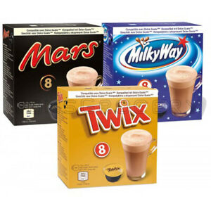 3 x MARS TWIX MILKY WAY Nescafe Dolce Gusto Coffee Machine Compatible Capsules