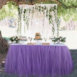Table Skirt Tulle Tableware Wedding Decoration Baby Shower Party Wedding Table