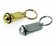 Schlüsselanhänger aus Zinkguss, ohne Gravur - gold- oder silberfarben