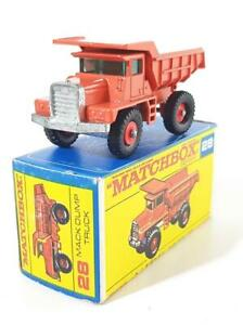 NEAR MINT BOXED MATCHBOX No.28 - MACK DUMP TRUCK