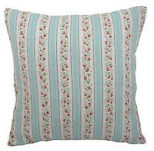 "Cushion cover in Cath Kidston Tea Rose Stripe  fabric 17"" / 43cm square"