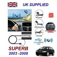 Per Skoda Superb Bluetooth Mani Libere Telefono AUX input mp3 1a USB CHARGER Modulo