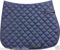 EQUESTRIAN HORSE RIDING SOFT FULL SADDLE PAD CLOTH NUMNAH WITH FLEECE LINING