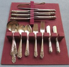 41 Pc Lg & Complete Set for 6 International Sterling Silver Bridal Veil Flatware