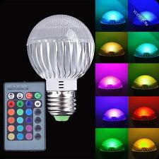 E27 3W RGB Remote Control LED Light 16 Colors Changing Lamp Bulbs 85-265V