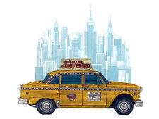 Barry Goodman - Taxi New York - Ready Framed Canvas