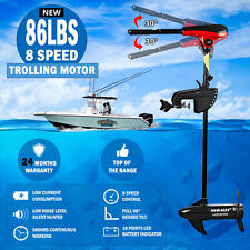 86lbs 8 Speed Trolling Motor Electric Inflatable Boat Marine Fishing Engine