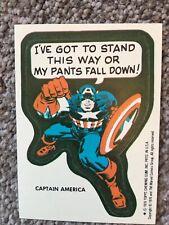 Topps Marvel Super Heroes 1975 1976 RARE Captain America - 1x Comic Book sticker