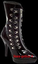 stivaletti pelle scarpe dark goth gothic fetish sexy