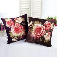 Flower Vintage Cotton Pillow Case Cushion Cover Home Sofa Decor Free Shipping KK
