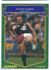 1985 Scanlens (27) Wayne HARMES Carlton Mint ****