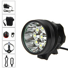 18000Lm 9x XML T6 LED Rechargeable Bycicle Light Headlamp 12000mA Battery Pack