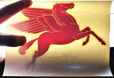 #2 Vintage MOBIL OIL PEGASUS HORSE LOGO - ADVERTISING DECALS sign gas station