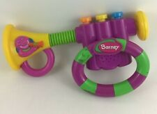 Barney Bend A Tune Trumpet Mattel 2002 Pretend Musical Instrument Band Toy