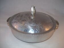 Rodney Kent Hand Wrought Creations Hammered Aluminum Covered Serving Bowl Tulip
