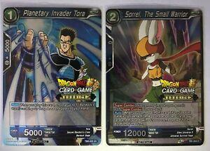 DBS TCG 2x JUDGE Stamped Collector Cards - Sorrel & Tora
