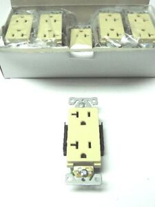 20 Decorator Residential 20A Receptacles Ivory Duplex Outlet UL/CUL Listed Plug