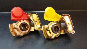 Kupplungsköpf standard gelb und Rot für Bremse,BPW, M22x1,5, Anhänger LKW,Dolly