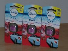 Febreze Set of 3 Spiced Apple Car Air Fresheners Brand New in Package