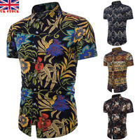 UK MENS HAWAIIAN T SHIRT BEACH HAWAII ALOHA PARTY SUMMER HOLIDAY FANCY DRESS TOP