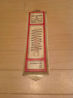 VTG Trucks & Contractors Equipment Advertising Metal Thermometer from 50's /60's