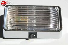 Interior Rectangle Dome Utility Lamp Light Clear Lens Hot Rat Rod Custom Truck
