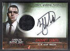 AMERICAN HORROR STORY ASYLUM Breygent AUTOGRAPH WARDROBE CARD AZQ ZACHARY QUINTO