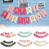 2020 Happy Birthday Bunting Banner Hanging Letters Garland Party Decor