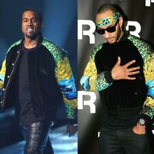 Versace H&M Men's Bomber Baroque Vintage Style Jacket Coat Kanye West (Medium)