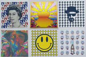 Blotter Art  - MIX & MATCH 100 Tab LSD ACID Art Psychedelic Art [50+ Designs]