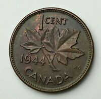 Dated : 1944 - Canada - One Cent - 1 Cent Coin - King George VI
