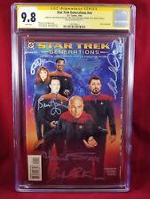 Star Trek Generations CGC 9.8 SS Shatner, Burton, Dorn, McFadden, Sirtis, Spiner