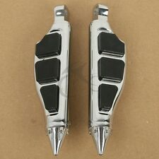 Left & Right Stiletto Style Foot Pegs Footrest For Harley Dyna Electra Glide FLT