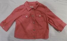 Ann Taylor Loft - Coral Jean Jacket - 3/4 length sleeves, Size Large, EUC